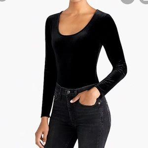 Black Velvet scoopneck bodysuit